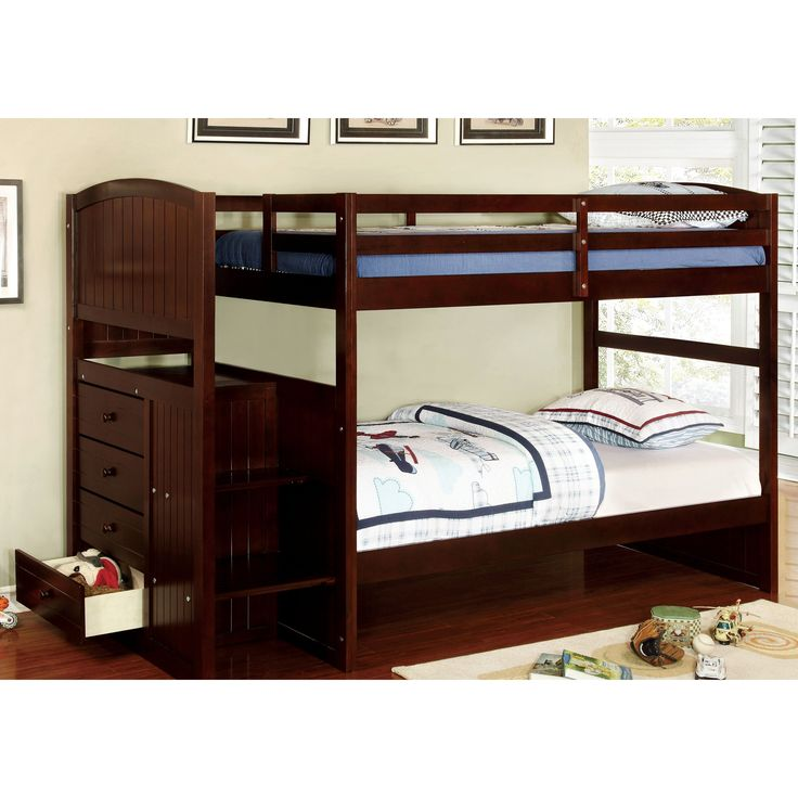 Furniture of America Davis Twin Over Twin Bunk Bed - IDF-BK922T-EX