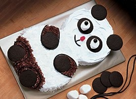 Panda Cake............... AWWWW got to make this for my panda bear!!!