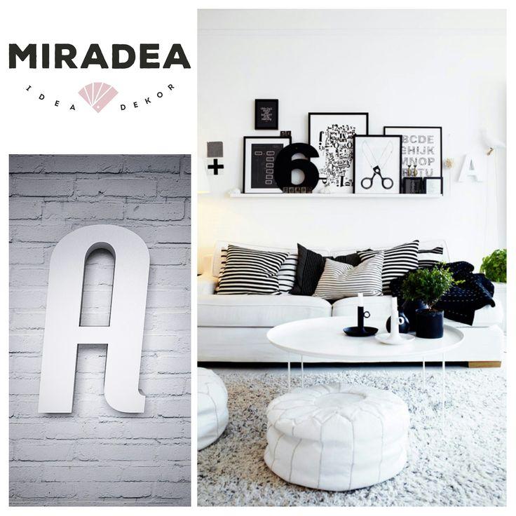 Betű Trendy betűtípussal, fehér | Miradea