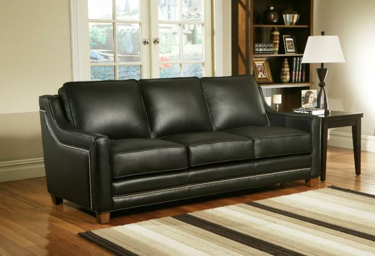 Omnia Leather Fifth Avenue Sofa & Sectional | Family Room