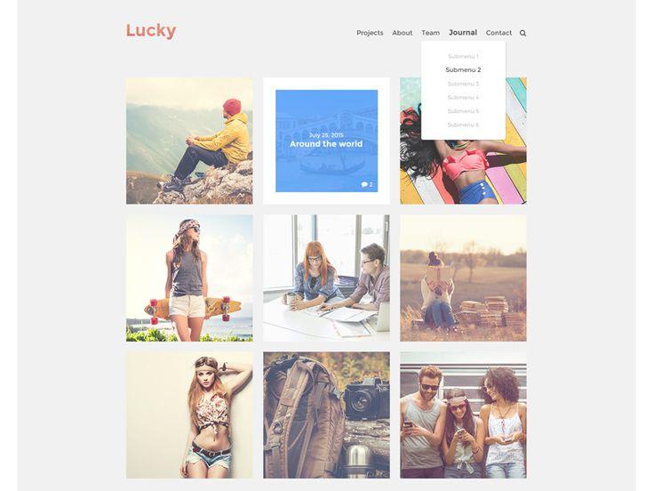 Lucky Wordpress Theme by Emiliano Cicero