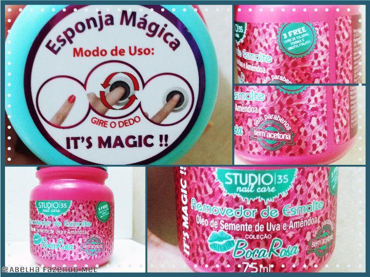 Esponja Mágica Coleção Boca Rosa