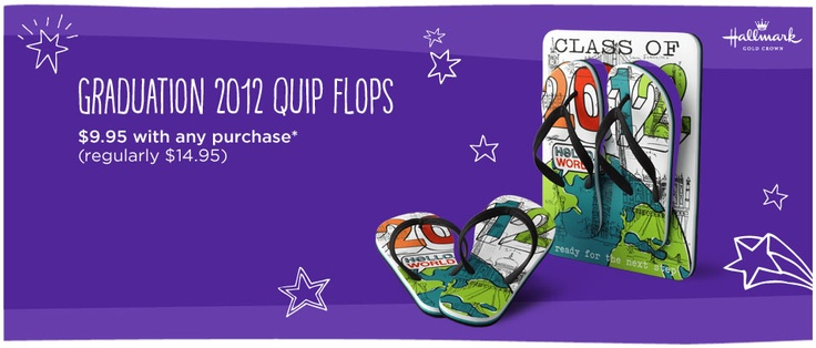 How cute are these?! Graduation 2012 Quip Flops. $9.95 with any purchase!