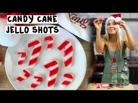 Candy Cane Jello Shots - TipsyBartender.com