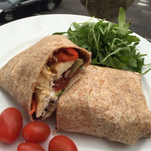 """""""Try these post workout fajita chicken wraps with @fage_uk greek yogurt and fresh coriander Great little refuel meal. P.s I ate 3 of these …"""""""