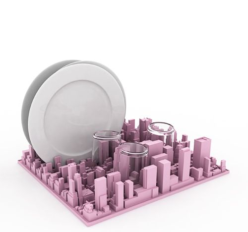City Skyline Dish Rack
