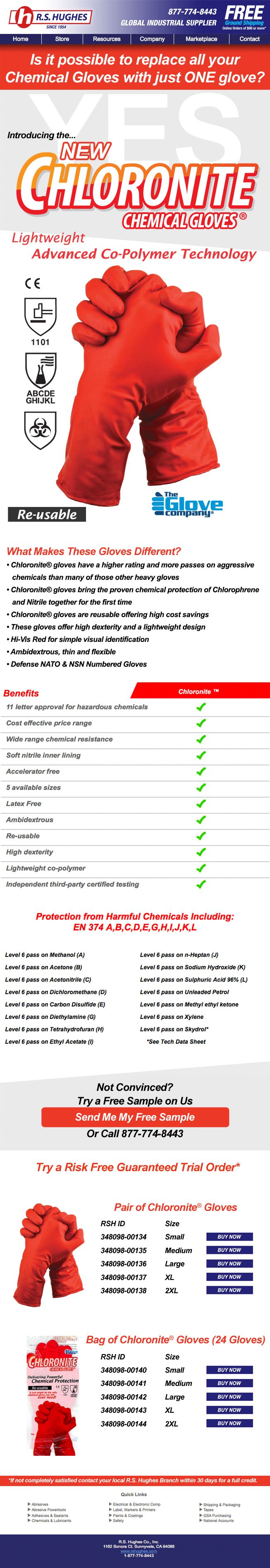 One chemical Glove can replace all chemical gloves and that glove is the New Chloronite Chemical Gloves. These new ambidextrous high dexterity, lightweight gloves have a higher rating and passes on aggressive chemicals than many of those other heavy gloves. Proven chemical protection of Chlorophrene and Nitrile together for the first time, are reusable offering high cost savings, and are Hi-Vis Red for simple visual identification. No Matter the application these gloves can stand up to the…