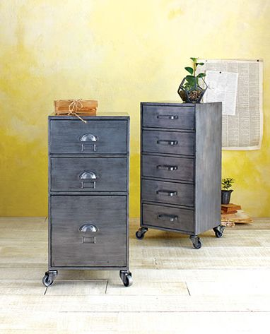 Jase Storage Collection - take stylish storage on the go with our rolling three-drawer cabinet. #WorldMarket Storage and Organization