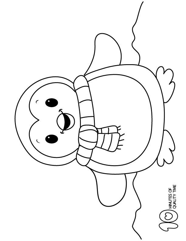 Penguin | Free Printable Templates & Coloring Pages | FirstPalette.com | 792x612