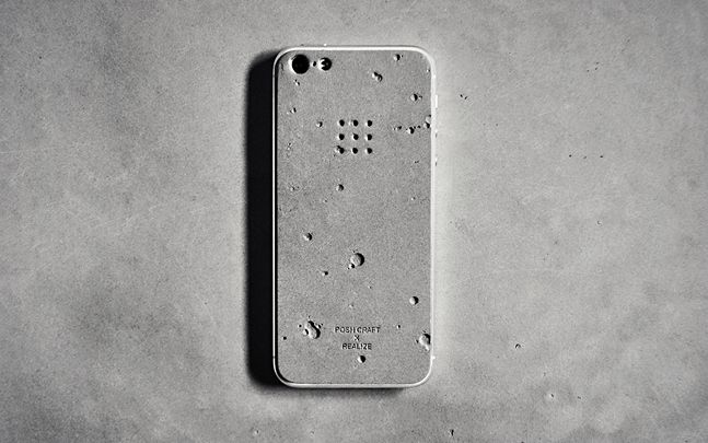 Luna Concrete iPhone Skin...from coolmaterial.com..awesome stuff on this site