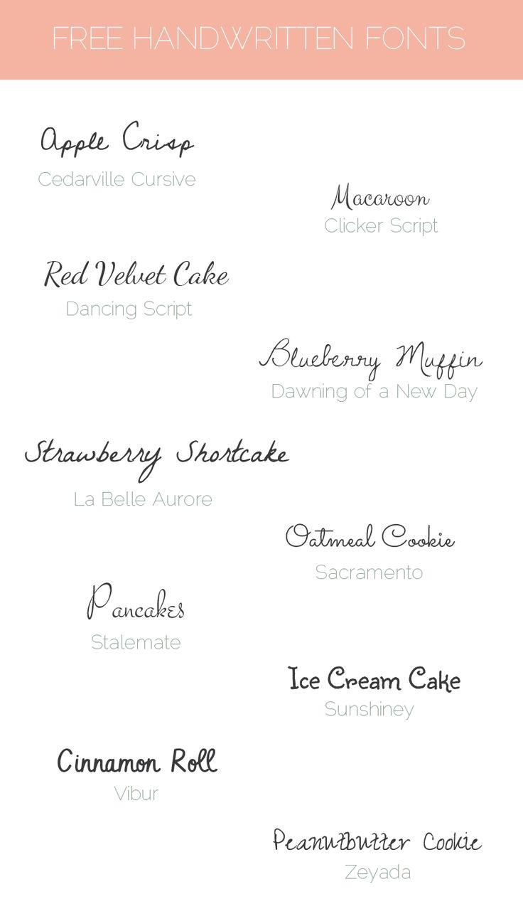 Sunday Freebie: 10 free handwritten fonts - - Elan Blog Studio