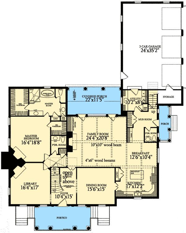 Plan 32471wp majestic 5 bedroom southern house plan for Luxury one story house plans with bonus room