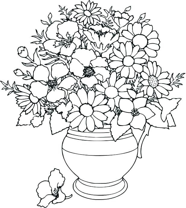 Hard Flower Coloring Pages Water Lily Printable Color By Number
