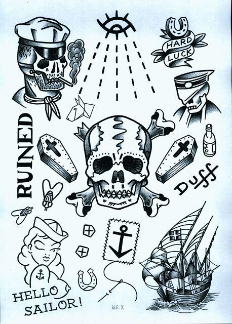 www.duncanx.com tattoo flash sheet 2
