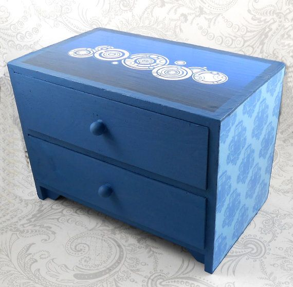 Doctor Who Name Tardis Stash Jewelry Box by pzcreations22 on Etsy, $26.50