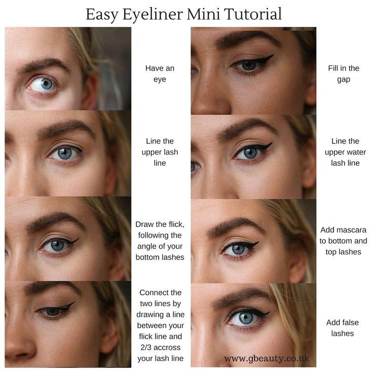 Eye Makeup For No Eyelashes   No eyeliner makeup, Makeup ...
