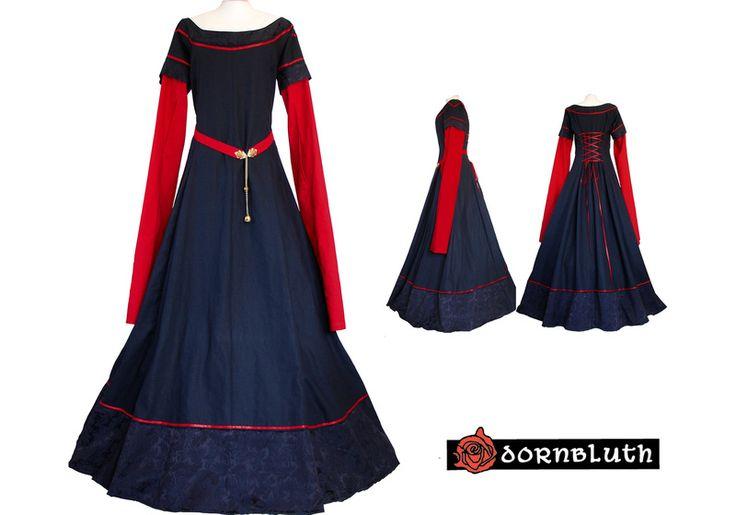 Mittelalter - Eala Marine-Rot - ein Designerstück von Dornbluth bei DaWanda