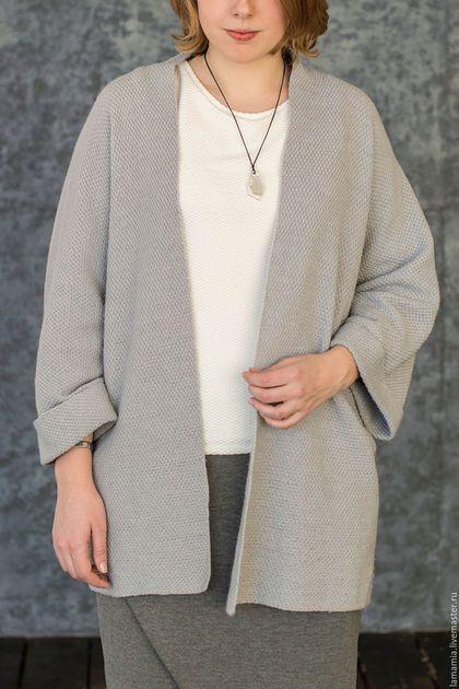 Пиджаки, жакеты ручной работы. Ярмарка Мастеров - ручная работа. Купить Кардиган вязаный серый. Handmade. Серый, кардиган женский