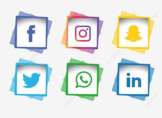 مجموعة أيقونات وسائل التواصل الاجتماعي وسائل التواصل الاجتماعي المرسومة الرموز الاجتماعية الأيقونات وسائل الإعلام Png والمتجهات للتحميل مجانا Desain Banner Desain Logo Bisnis Spanduk