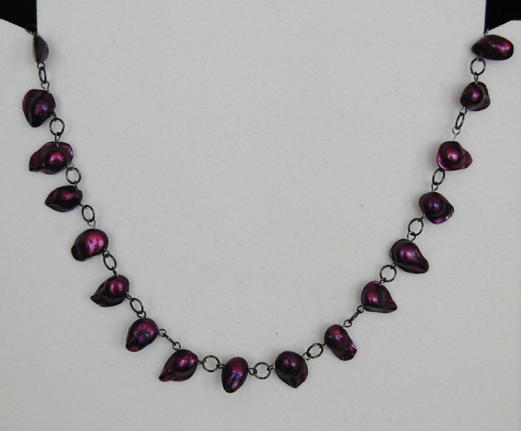 Jewelled Designs - Purple Shell necklace, $25.00 (http://www.jewelleddesigns.com/purple-shell-necklace/)