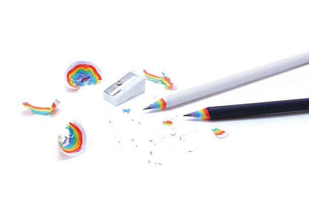 Rainbow Pencils by British designer Duncan Shotton are made of recycled paper and lets you create beautiful rainbows every time you sharpen ...