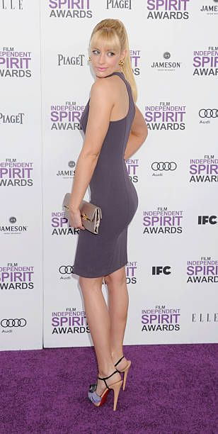Beth Behrs arrives at the 2012 Film Independent Spirit Awards at Santa Monica Pier on February 25 2012 in Santa Monica California