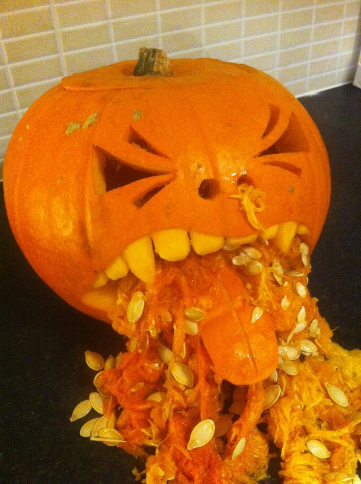 vomiting pumpkin halloween pinterest pumpkins