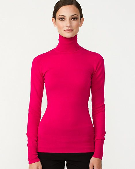 Viscose Blend Turtleneck Sweater