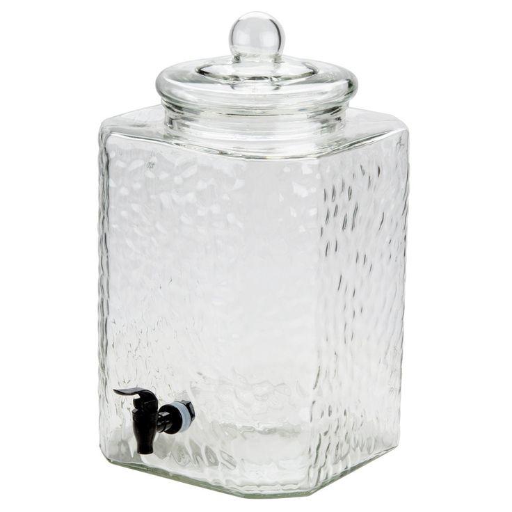 "Core 5 Gallon Glass Beverage Dispenser with Glass Lid - 10 1/2"" x 12 3/10"" x 16 7/10"""