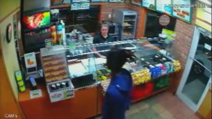 OAKLAND PARK -- Man complains about free cookie at Subway, then robs Subway. (September 2016)