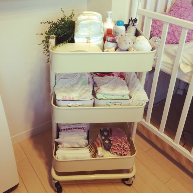 ベビーベット/IKEA/赤ちゃん/北欧/ベビー用品/ワゴン…などのインテリア実例 - 2015-09-11 16:48:21 | RoomClip(ルームクリップ)