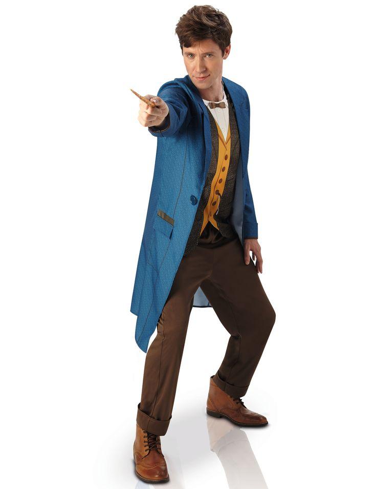 Disfraz de Newt Scamander - Animales Fantásticos™: Este disfraz para hombre deNewt Scamander tiene licencia oficial Los animales fantástiscos y dónde encontrarlos™.Incluye túnica, pantalón y varita...
