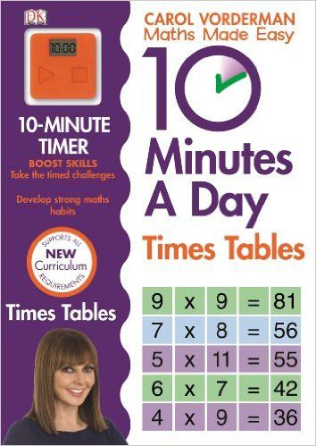 Spend 10 minutes a day and become a maths star. Set the clock and off you go! Young learners excel in short bursts, so 10 Minutes a Day Times Tables from Carol Vorderman will help them improve their t