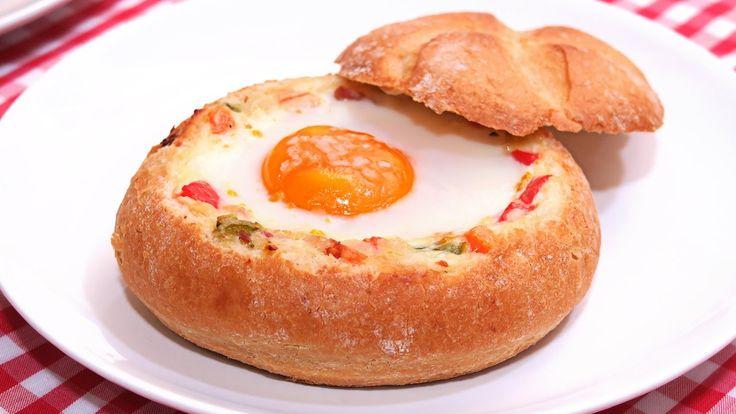 Pan Relleno al estilo Huevos Napoleón | Receta rápida y sencilla