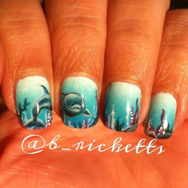 Dolphin NAIL Art _____________________________ Reposted by Dr. Veronica Lee, DNP (Depew/Buffalo, NY, US)
