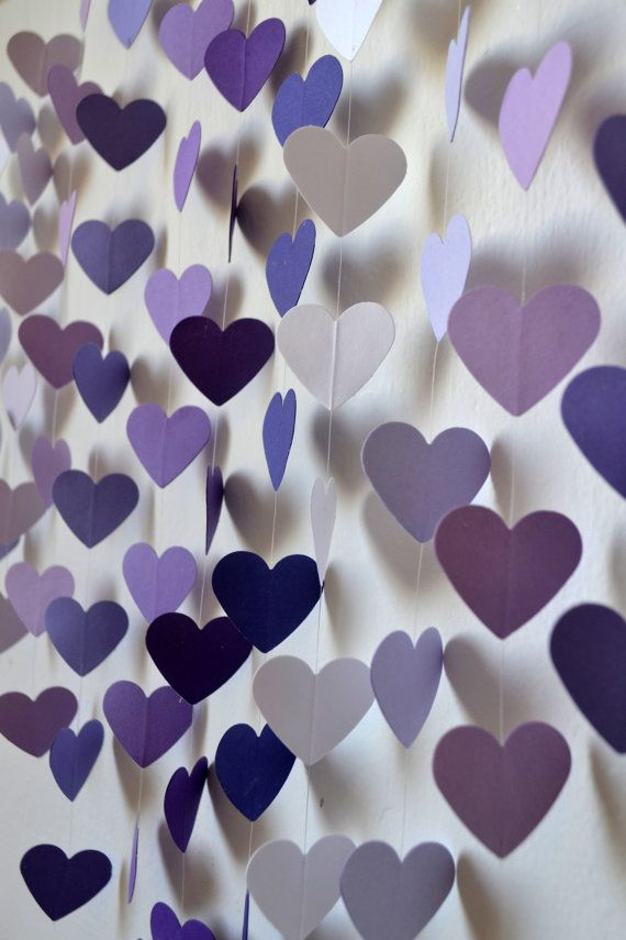 DIY Heart Mobile Kit - Lilac Dreams Wall Hanging / Baby Shower / Wedding Decor / Baby Mobile / Birthday Gift / Party Decor / Photo Prop on Etsy, £15.36