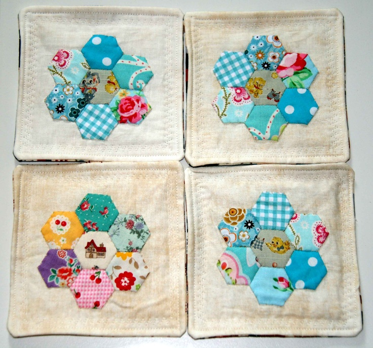 coasters w small hexies
