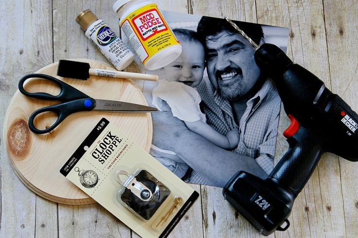 DIY Photo Clock #fathersday