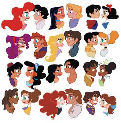 Disney couples- I think it's great that Merida can get ...