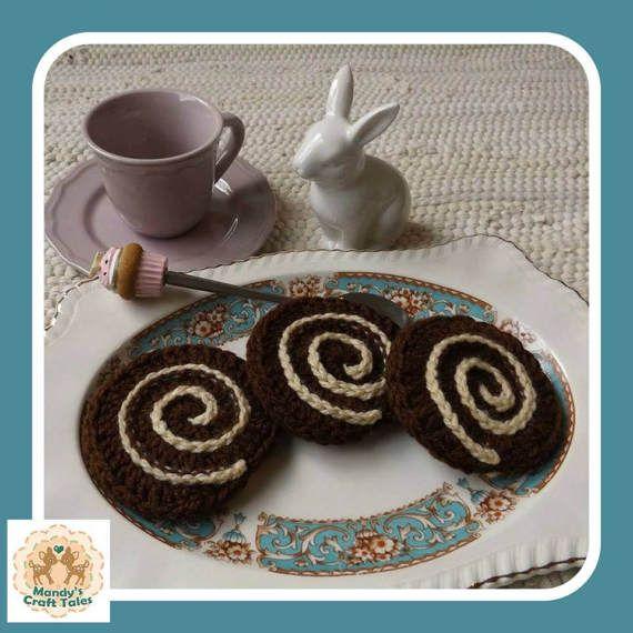Crochet Cake Crochet Swiss Roll Crochet Jelly by MandysCraftTales