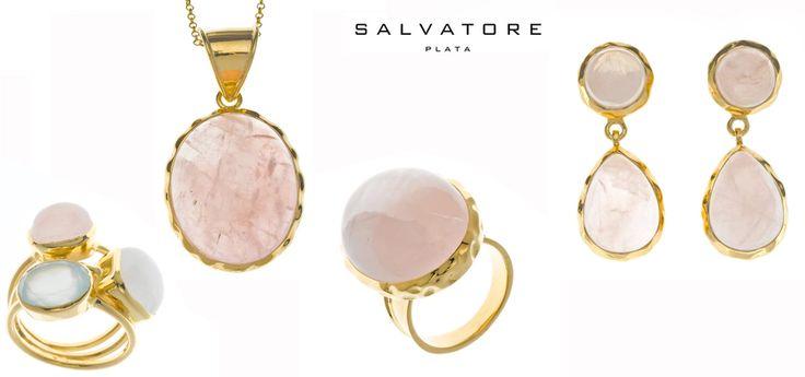 Anillo tres piedras, collar, anillo y pendientes de la colección DARJEELING