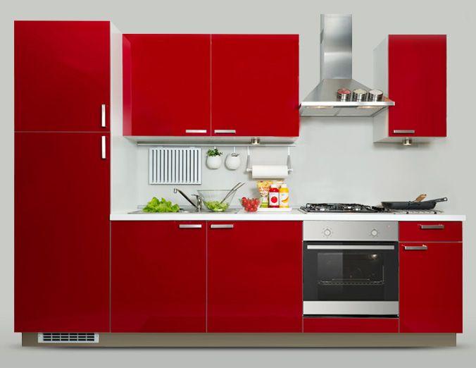 Este mueble rojo est en la cocina y est compuesto por - Mueble rojo ikea ...