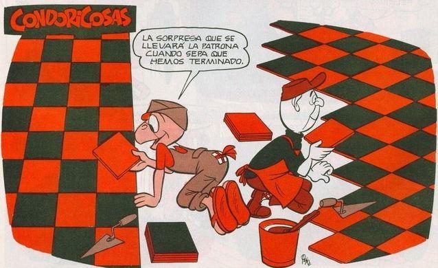 Vamos rápido Huevoduro, no? ¡Plop! #Condorito #Historieta #Chiste