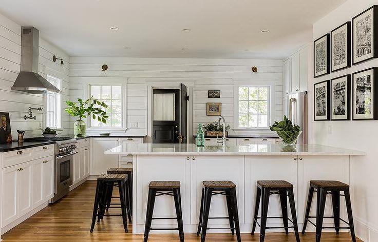 Black and White Cottage Kitchens, Cottage, Kitchen