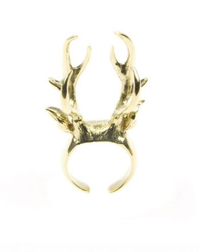 Stag Gold Ring