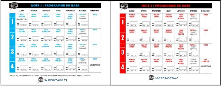 Téléchargement gratuit du calendrier Insanity MAX:30 de base. Infos sur les différents calendriers Insanity MAX:30 ainsi que la définition du MAX OUT.
