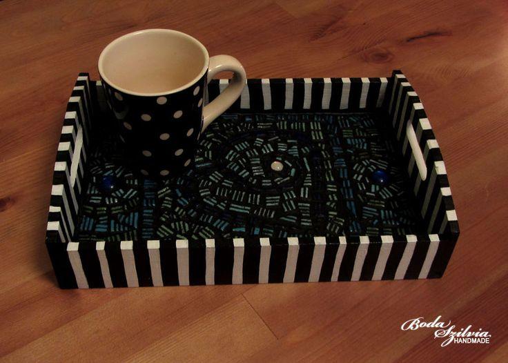 Mosaic tea-tray by bodaszilvia.deviantart.com