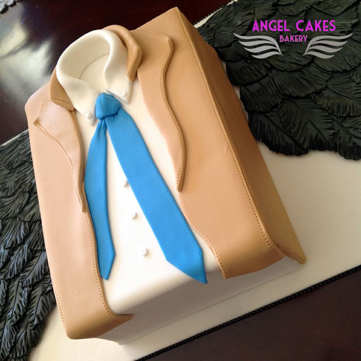Supernatural Themed Cake - Trench Coat and tie from main character is cake