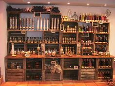 natural wood shop fittings - Google Search