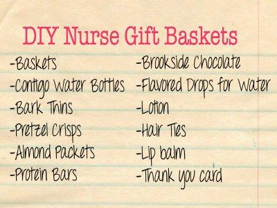 DIY Nurse Gift Baskets